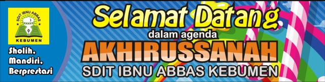 Contoh Spanduk Perpisahan/ Pelepasan/ Akhirussanah