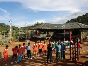 Lomba volley di pos PAMTAS Long Ampung