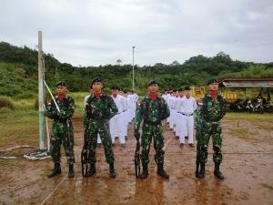 persiapan upacara 17 Agustus di Perbatasan