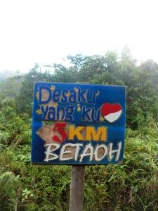 Salah satu desa terdepan di perbatasan, Long Betaoh